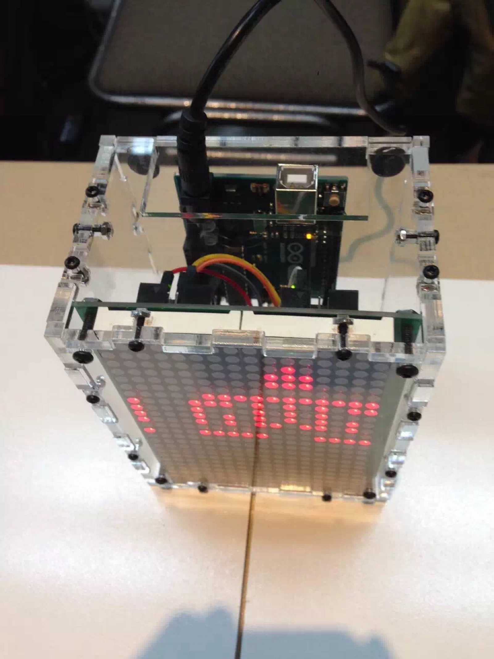 How To Read Pins On 8x8 Dot Matrix Led Grace Learns Iot Medium Display Circuit Double At Robot Show In Seattle