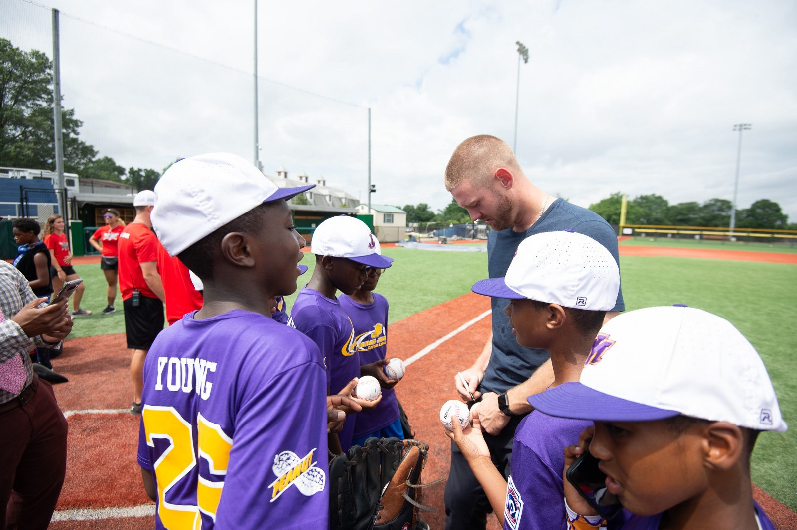48c73a6d60b Photos  Nationals players visit Youth Baseball Academy and host Mamie  Johnson Little League