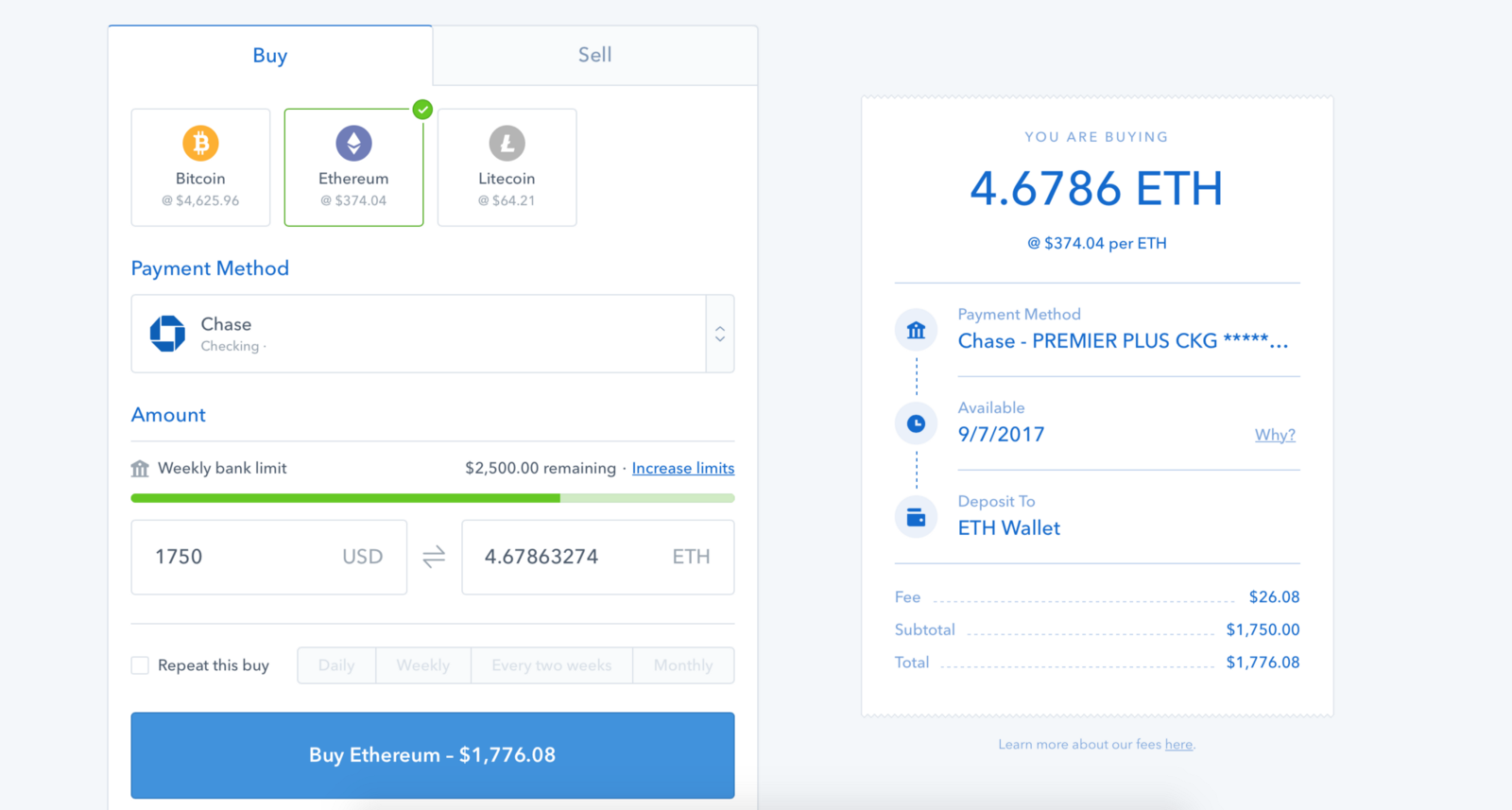 how to buy eth with btc on coinbase