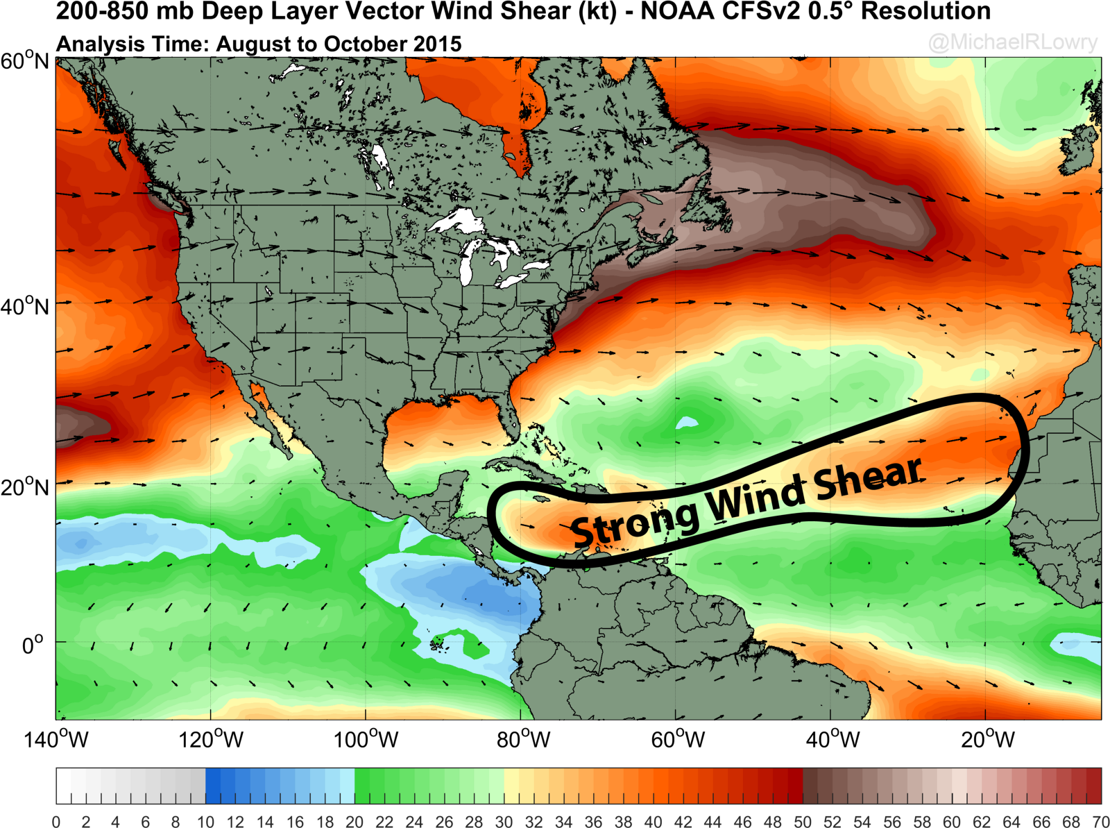 Wind Shear Map What does the [hurricane] season look like? – The Weather Channel  Wind Shear Map