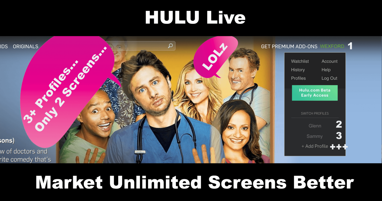 Hulu Live: Market Unlimited Screens Better – Wexford Entrepreneurial