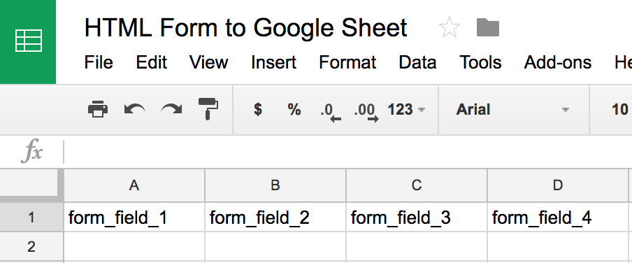 How To Submit An HTML Form To Google Sheetswithout Google Forms - Create google sheet