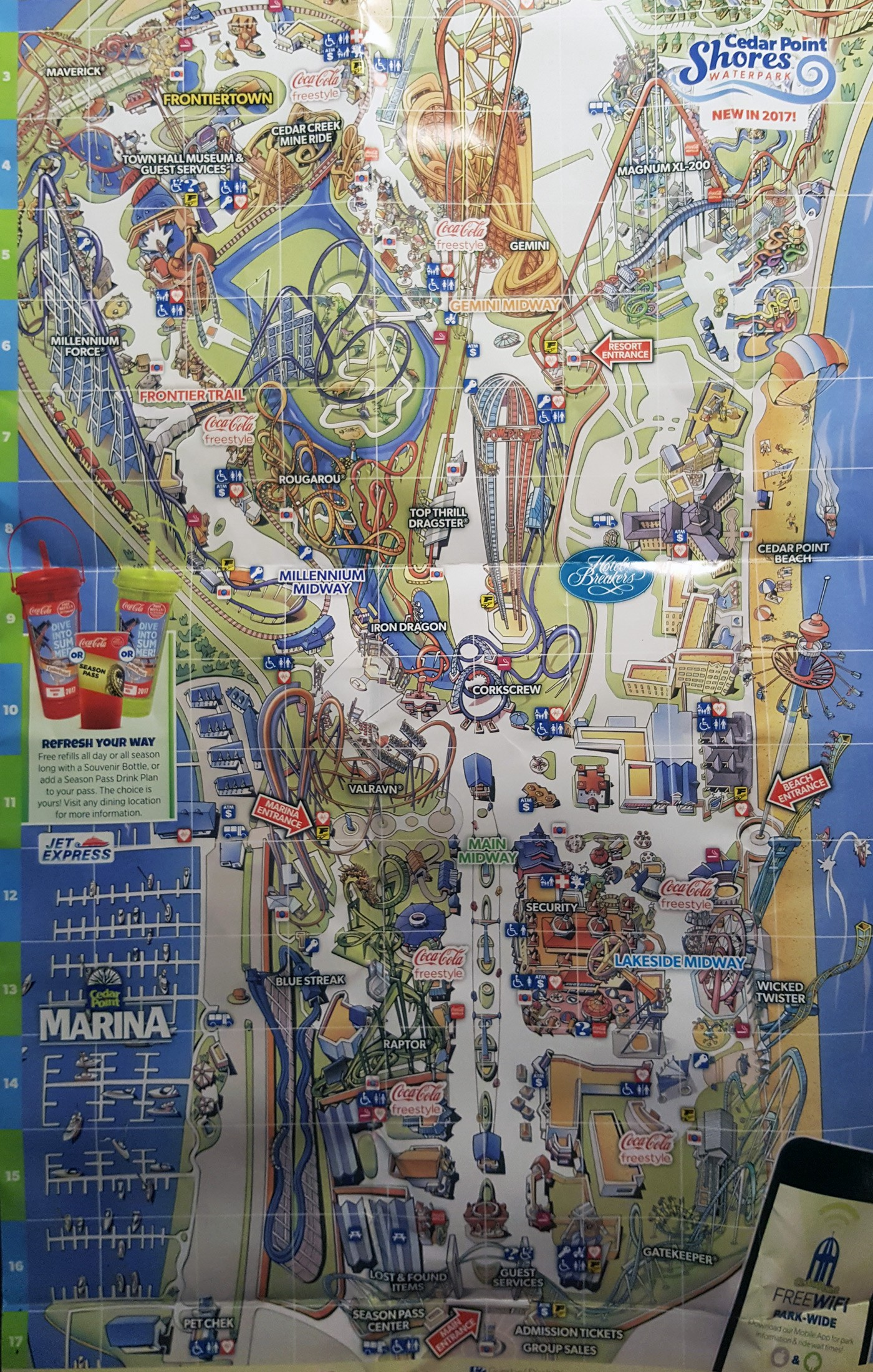 Lesson From A Cedar Point Park Map Lessons From Ordinary Medium
