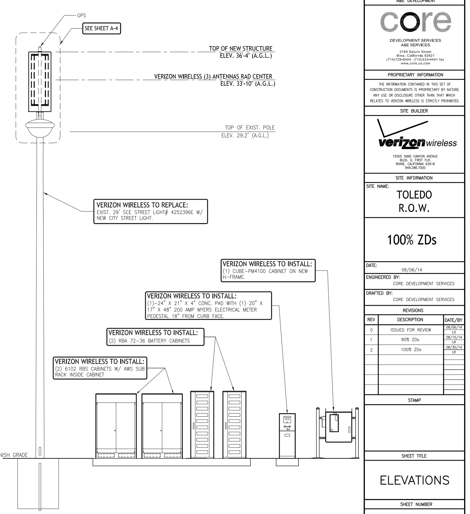 Apart 2 Example Photos Of The Good Bad And Downright Ugly Verizon Wireless Wiring Diagram An Unrealistic Inappropriate Proposal For A Small Cell On Nicely Landscaped Street In South Orange County This Is More Quasi Macro
