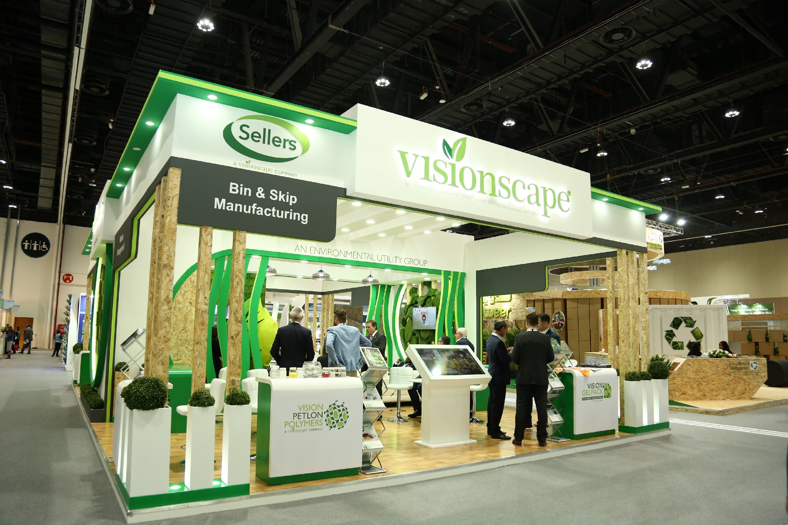 Exhibition Stand Eco : Visionscape group participates at abu dhabi s largest