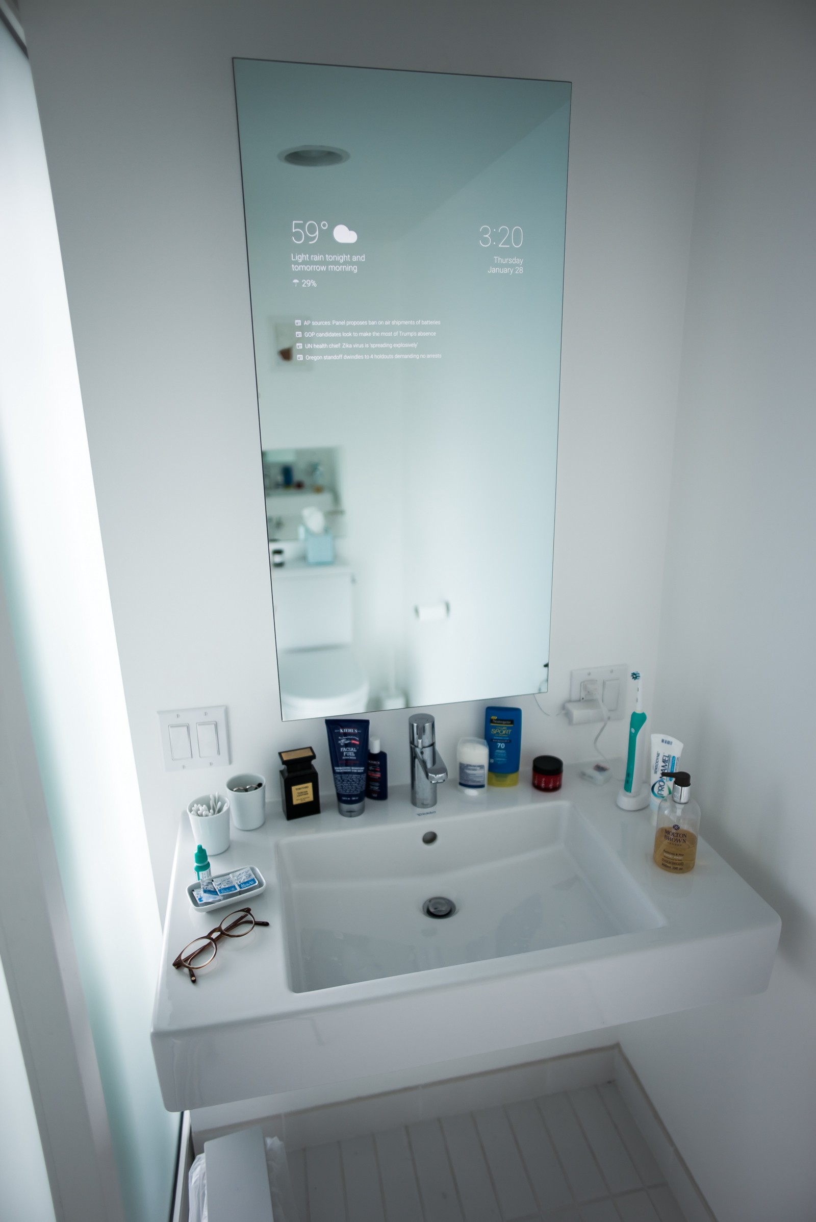 my bathroom mirror is smarter than yours - Bathroom Mirror Ideas