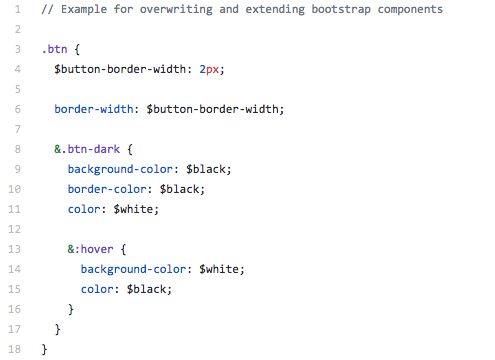 8721112804 With this structure it s easy to keep a clear overview where a style comes  from and what Bootstrap component it extends or is based on.