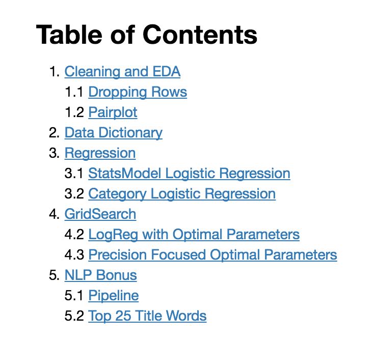 how to make table os contents start from page 3