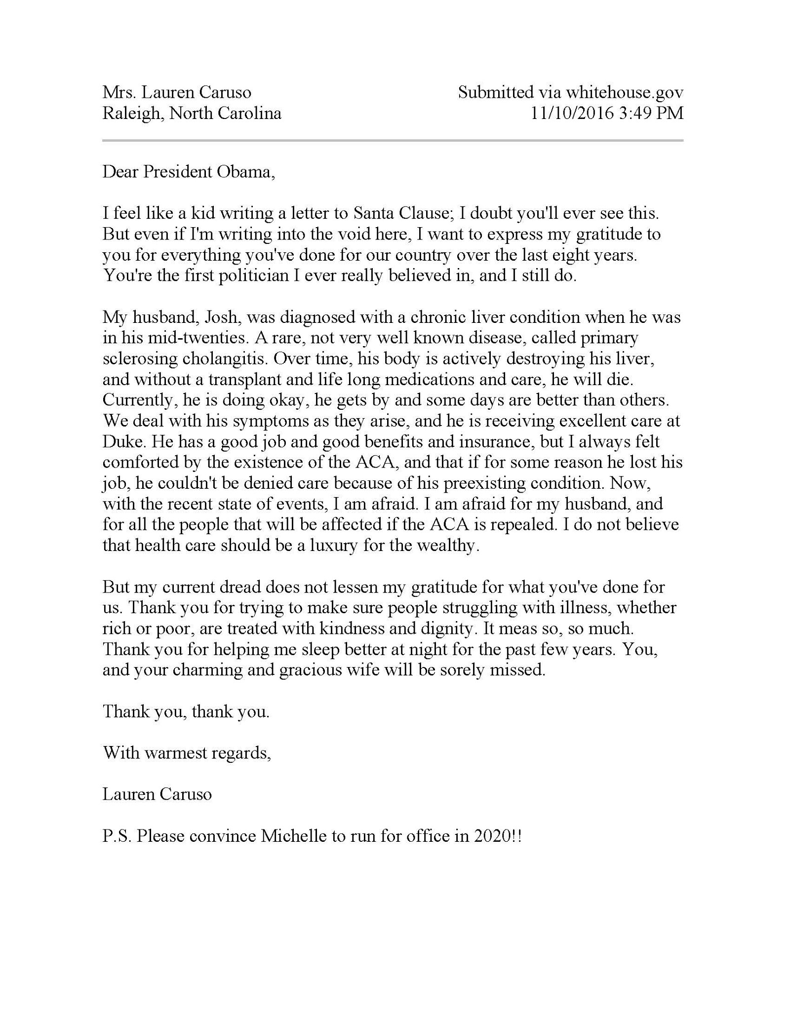 Asked and answered five letters on why affordable health coverage letter from lauren caruso i am afraid for my husband and for all the people that will be affected if the aca is repealed aljukfo Gallery