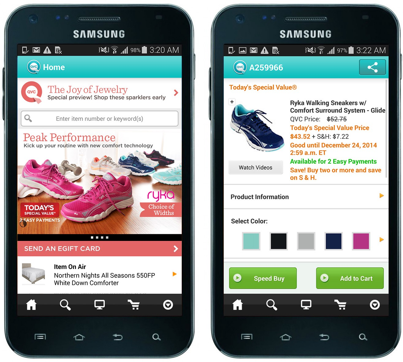 Original Android App Home Screen And Product Detail Page