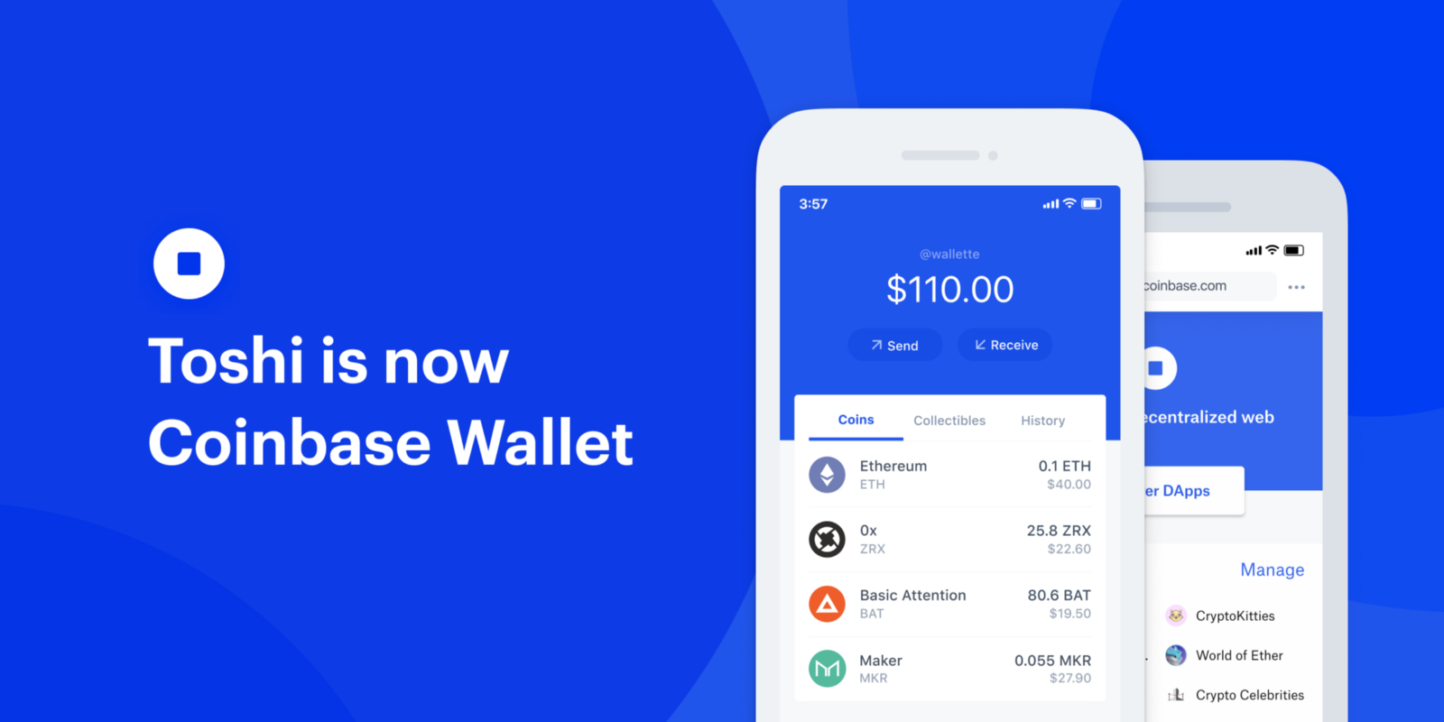 Goodbye Toshi Hello Coinbase Wallet The Easiest And Most Secure Crypto Browser