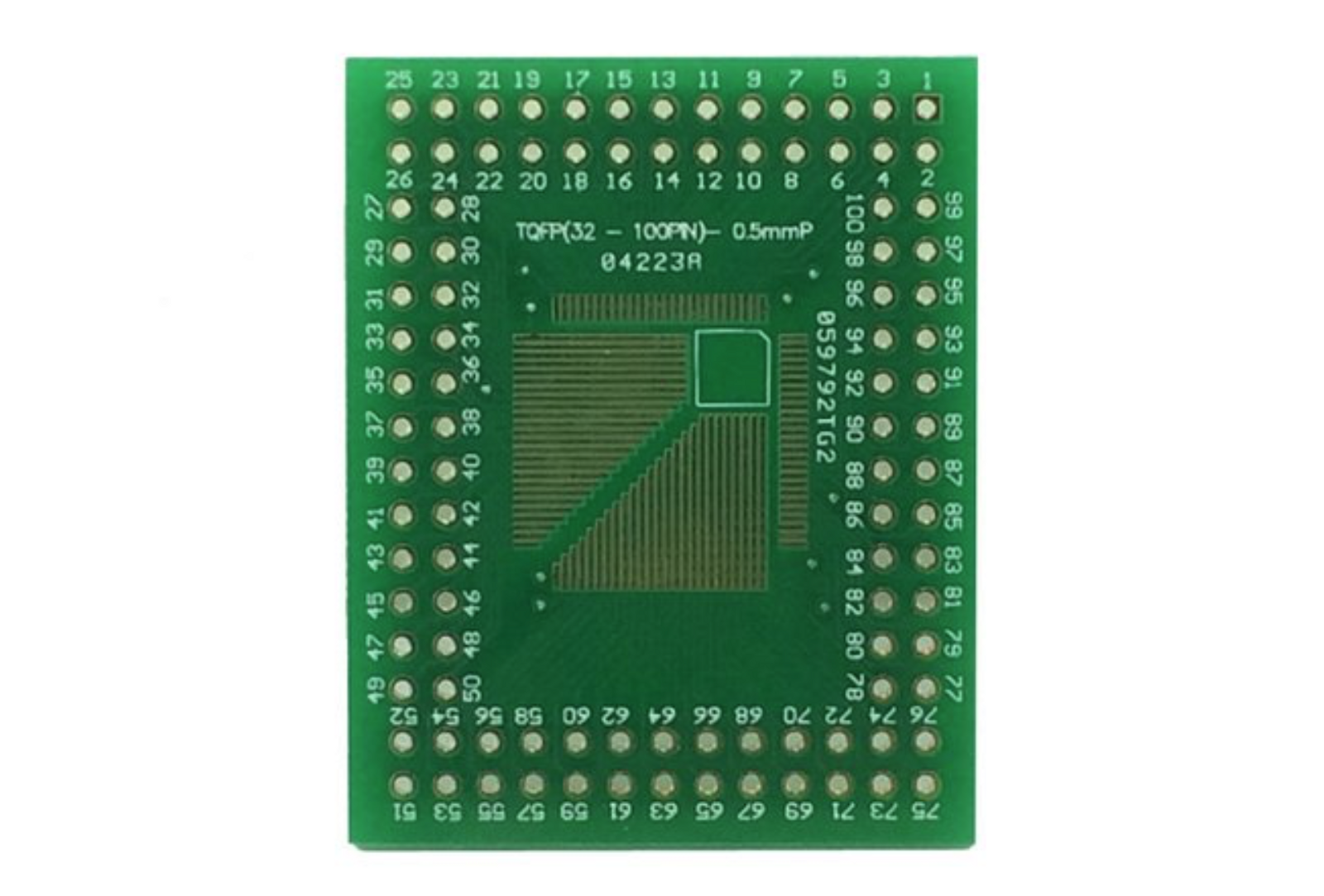 Surface Mount Electronics For Hobbyists Easier Than You Think Make Your Own Circuit Online I Intended To Solder A Qfp Chip On The Kicad Proto Pcb Board Which May Recall Looks Like This