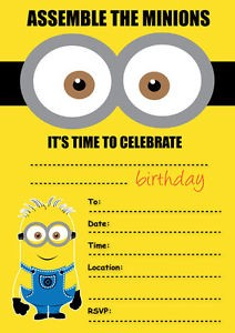 Some Great Ideas For Minion Party Kids Coloringpagesonlycom Medium