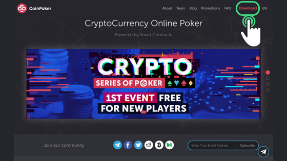 Guide to Getting Started on CoinPoker Step 1