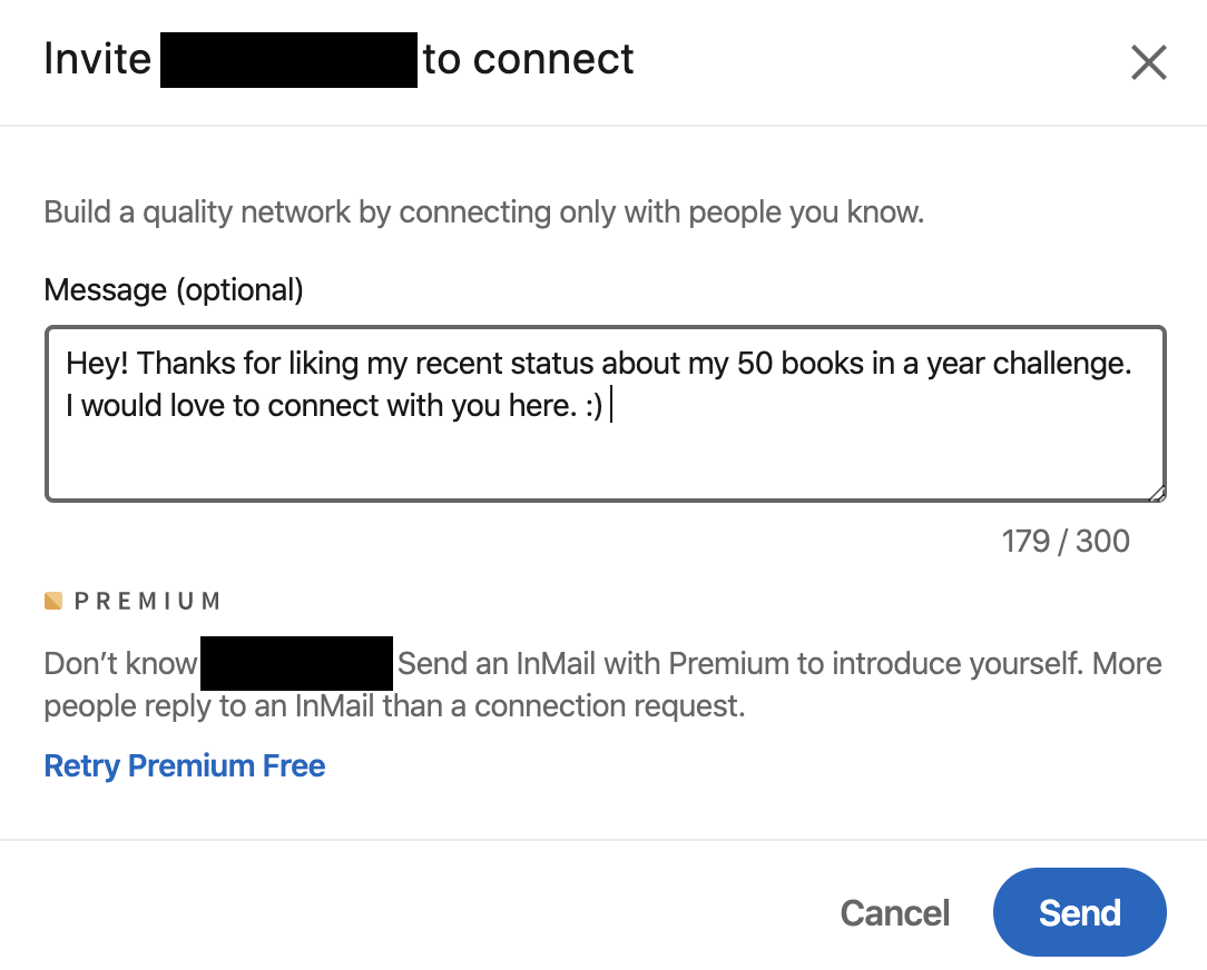 how to write your linkedin connection request