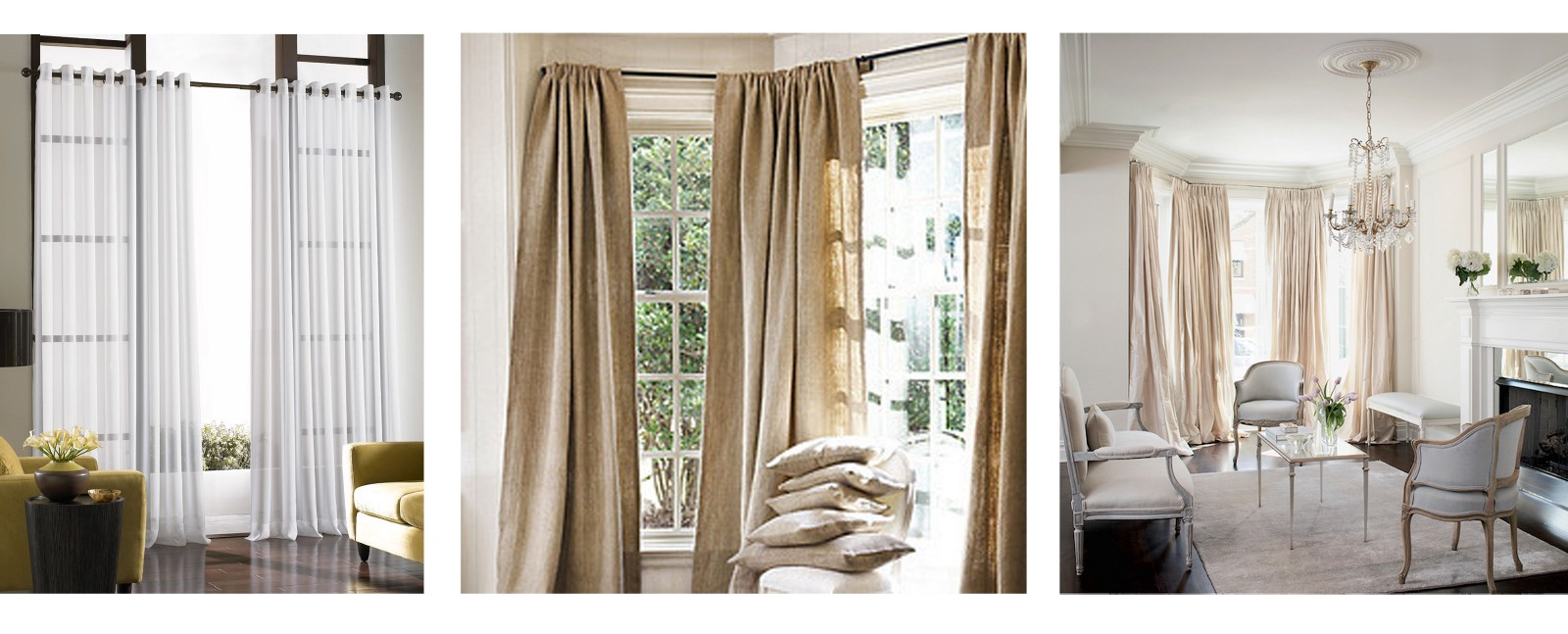 Measuring Curtain Sizes Needed For Each Window Varies Greatly According To  The Type Of Curtain Needed, Window Size, And Type And Weight Of Curtain.