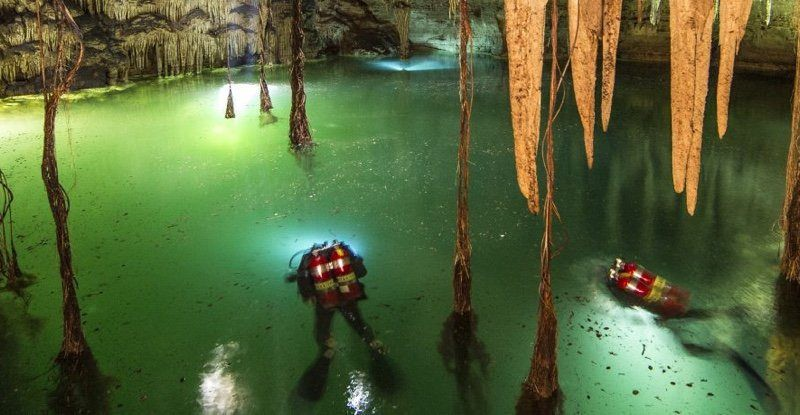The World's Largest Underwater Cave Was Just Discovered And It's Full Of Mayan Secrets