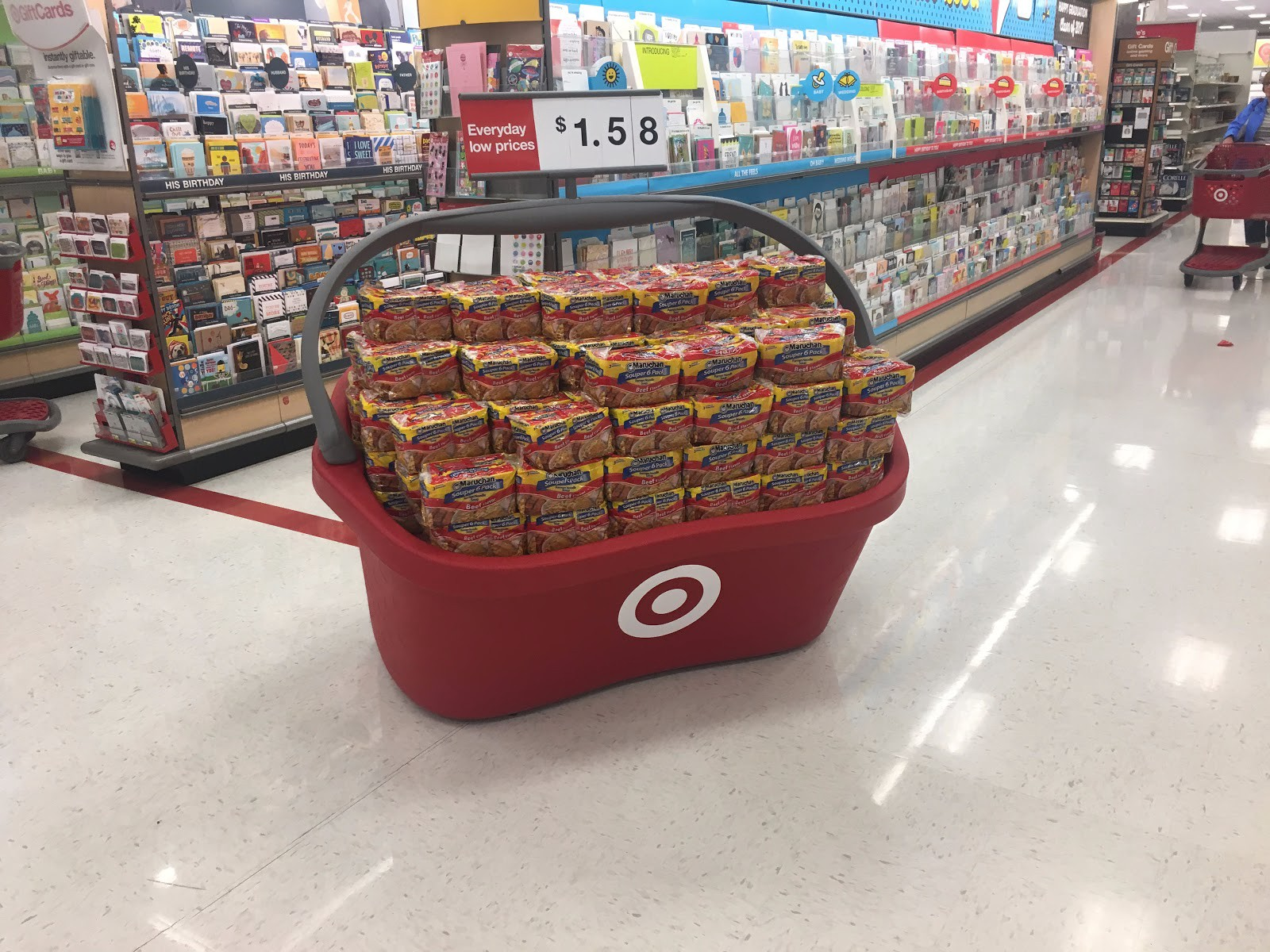 Theyre Displays Made To Look Like Jumbo Versions Of Targets Shopping Baskets Highlighting The Iconic Target Red Color And Bullseye Logo