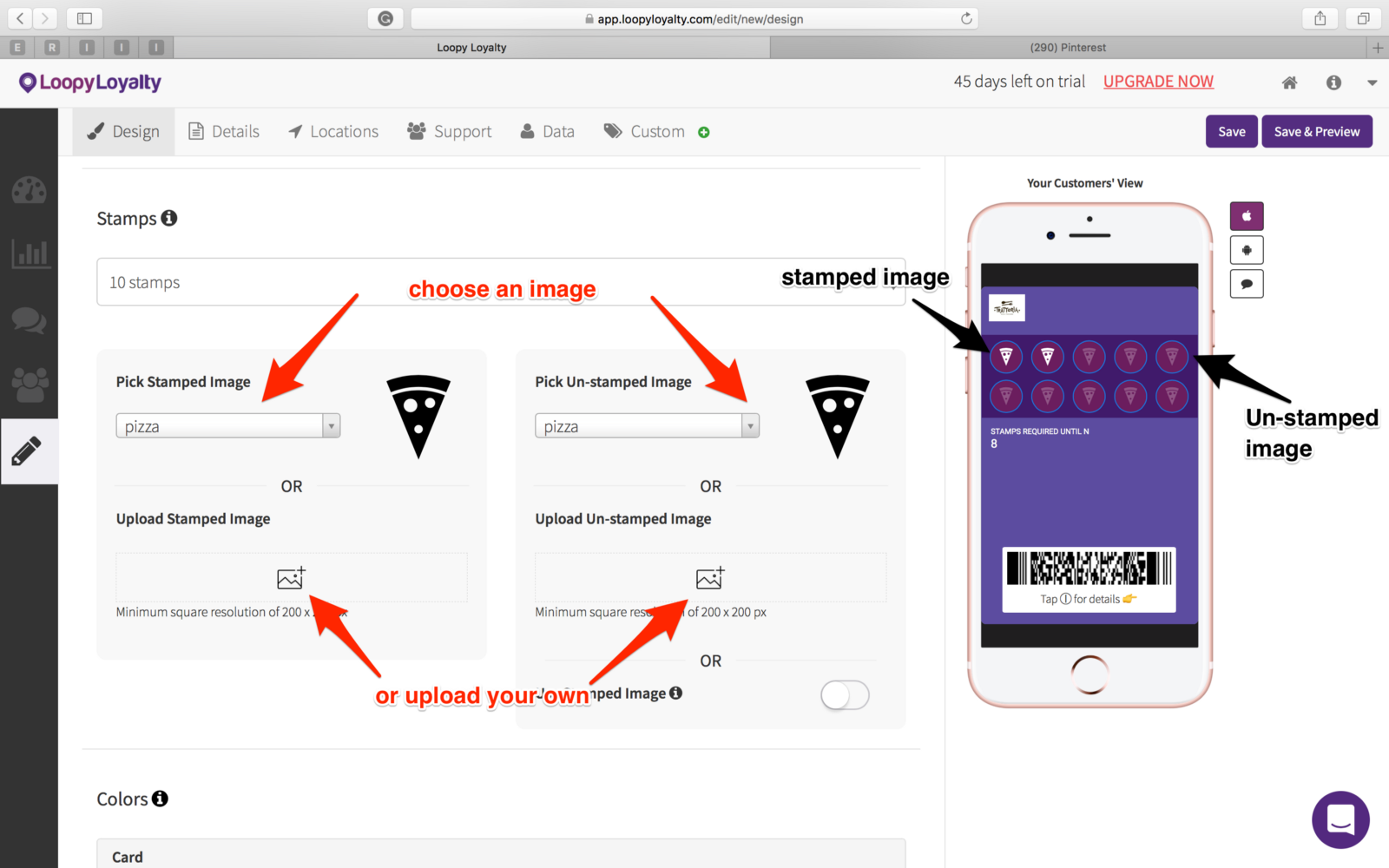 Select Your Stamp And Unstamped Images From The Gallery Or Upload Own You Can Preview How This Looks On Right Hand Side