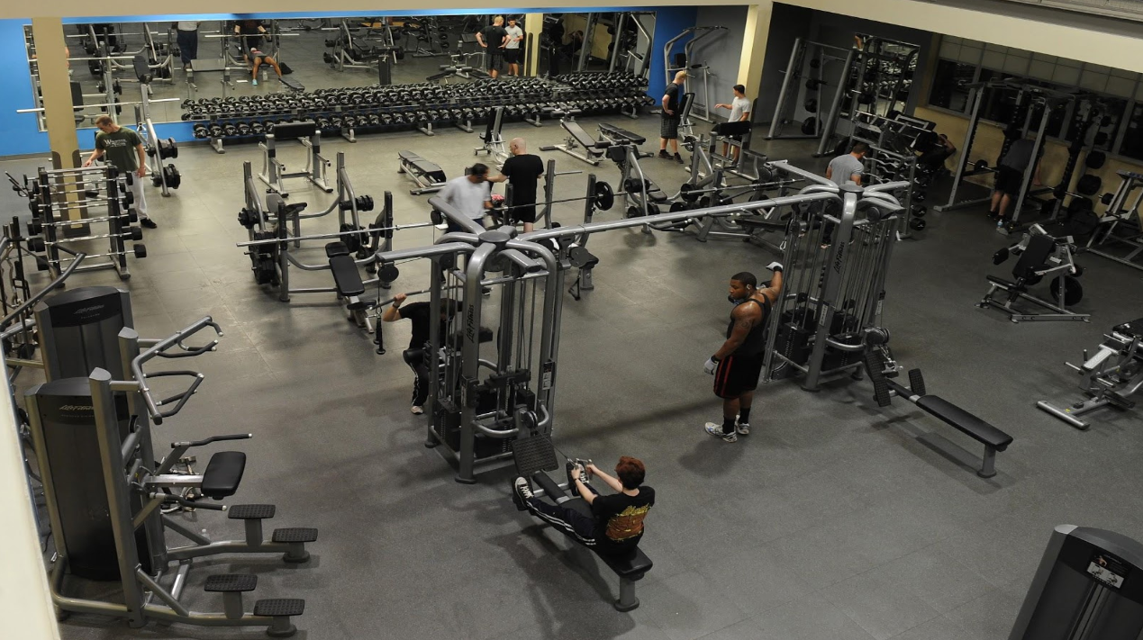 In a gym most people do everything but getting good results the