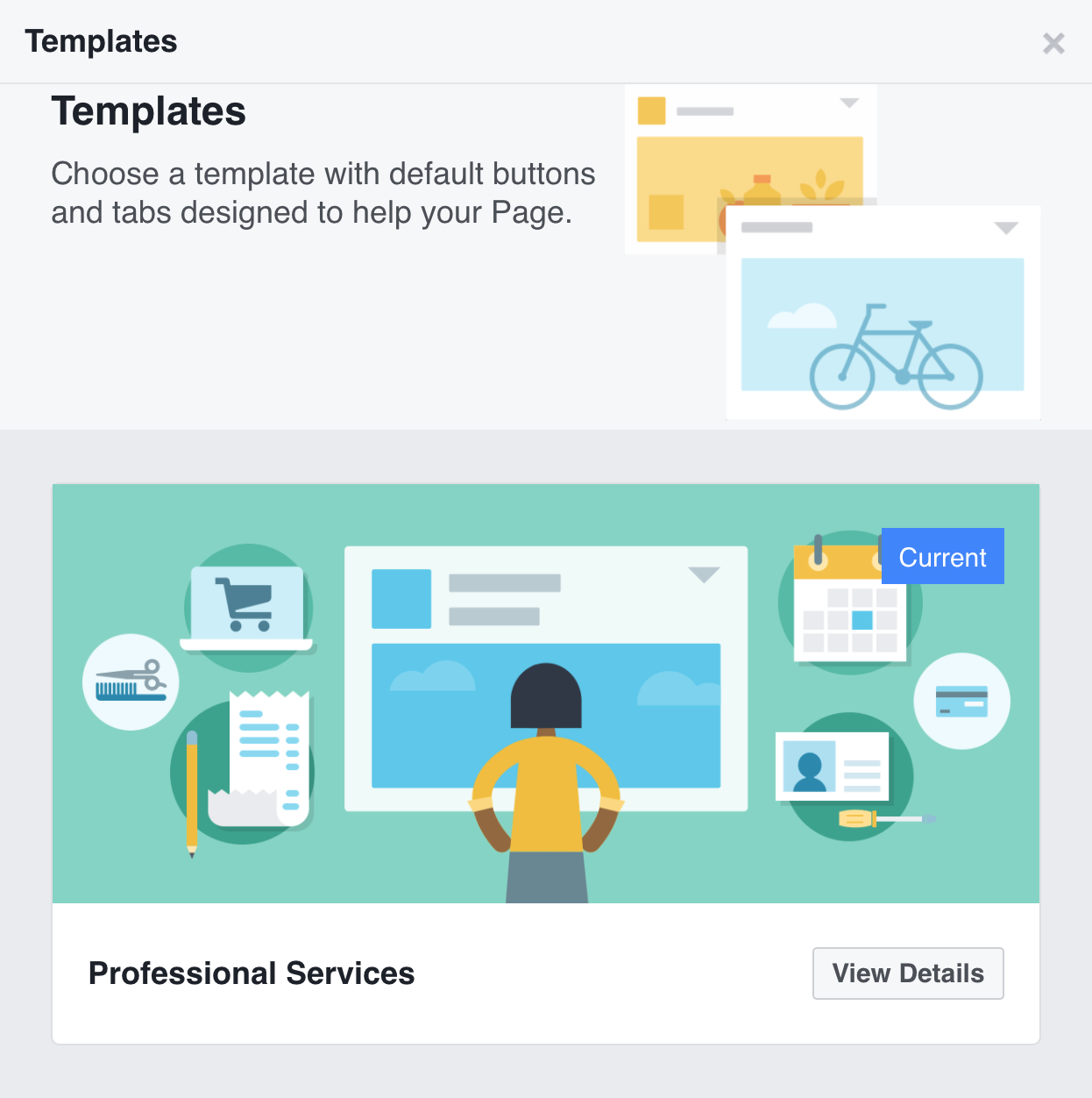New facebook business page templates subsign medium each template is customized to highlight different features friedricerecipe Image collections