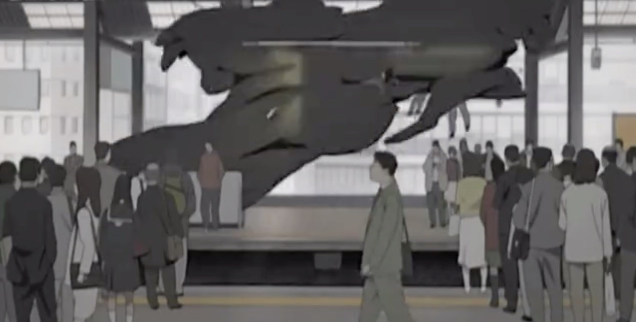 Black goo takes over Japan in Paranoia Agent (2006)