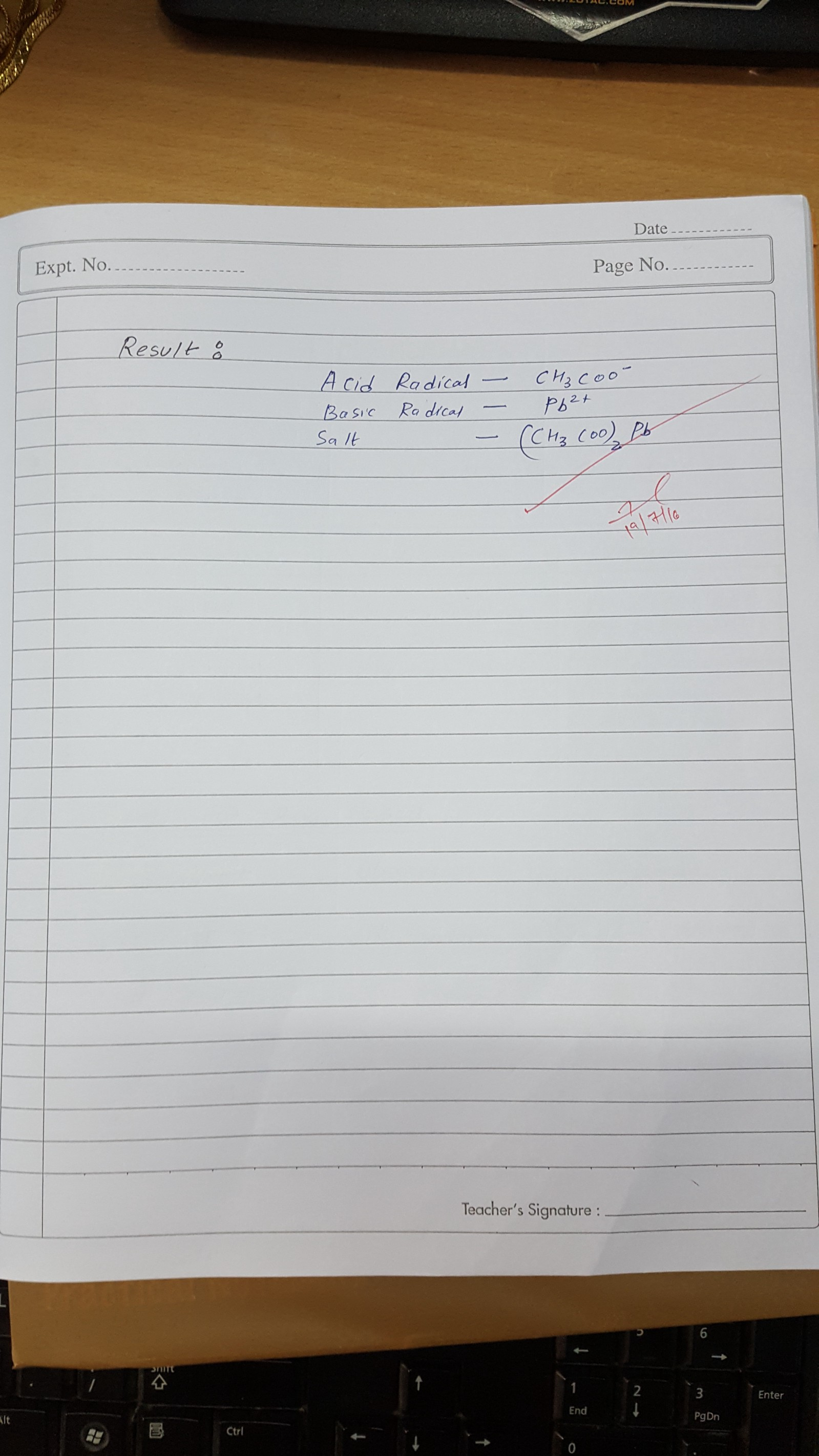 Chemistry Practical Book For Class 11