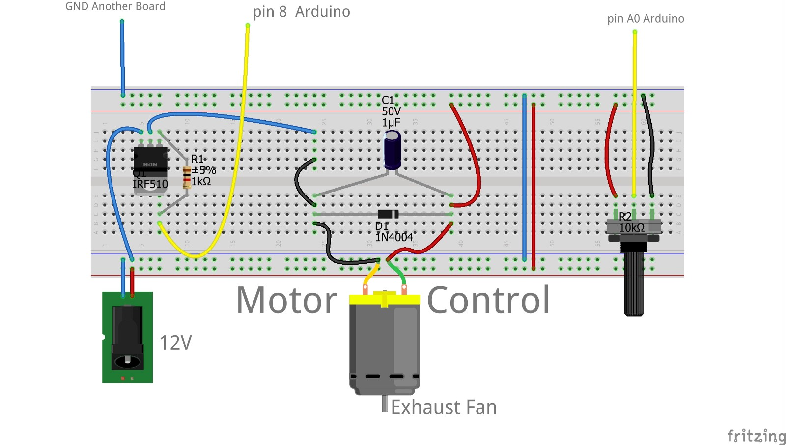Pid Sample For Arduino Jungletronics Medium Temperature Detector Controller Circuit Electronic Projects We Capture The Fan Speed By Means Of An Reflective Ir Sensor With 330r And 100k Resistors