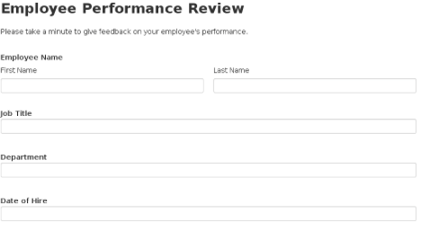 1 template for employee performance reviews that you can customize