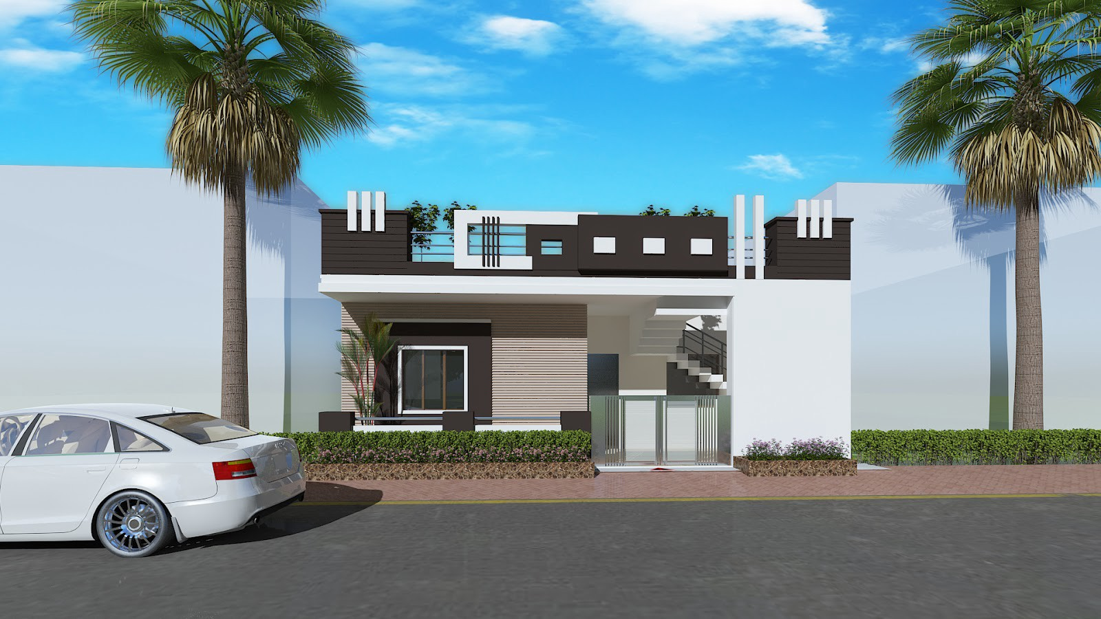 Indian House Design And Front Elevation Archplanestcom