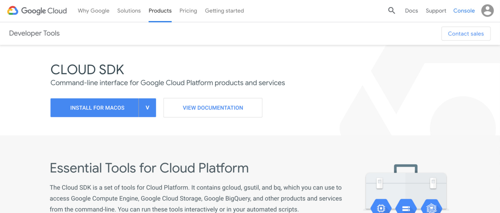 install google cloud sdk brew