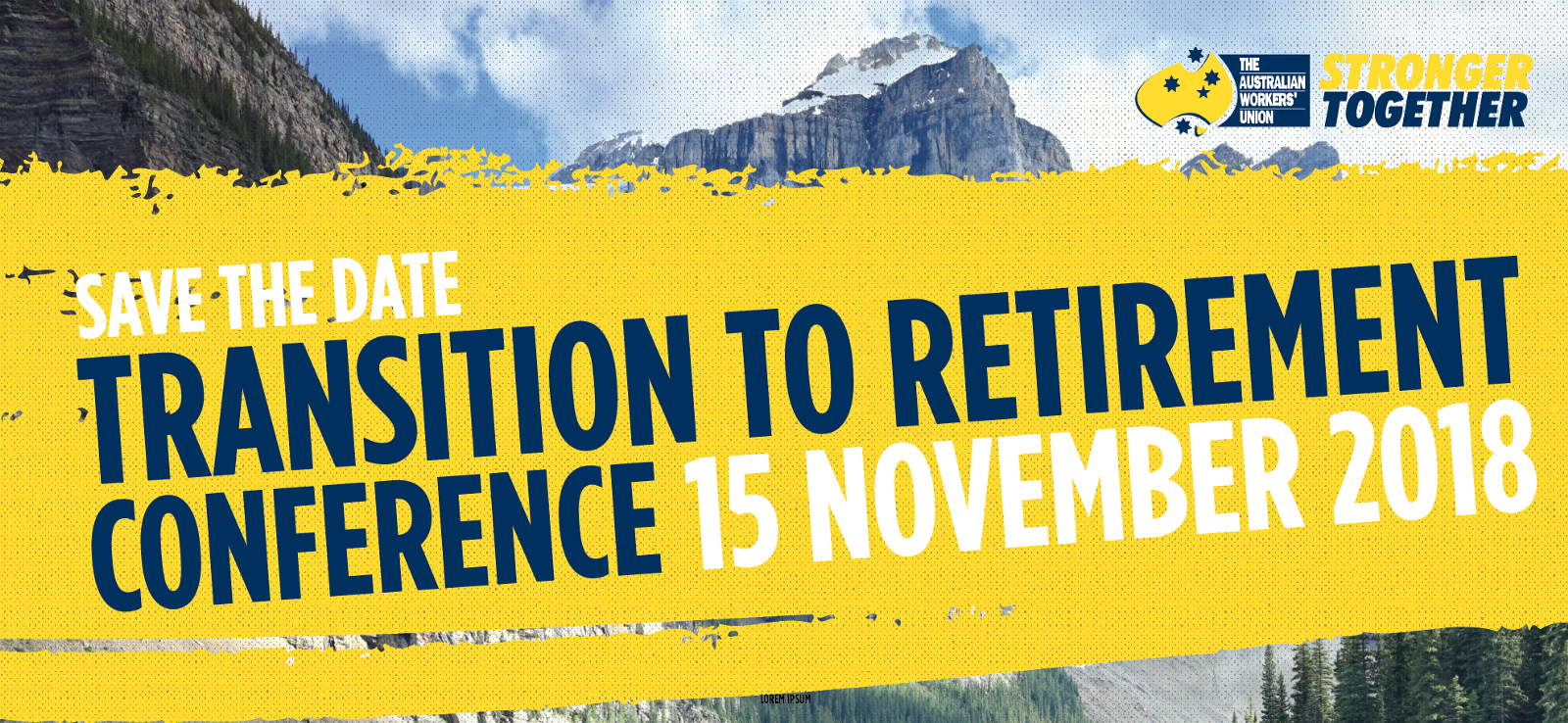 transition to retirement conference save the date