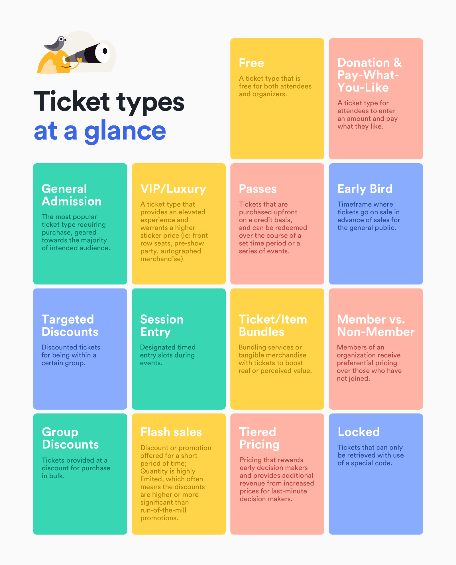 making the most of your ticket type options universe
