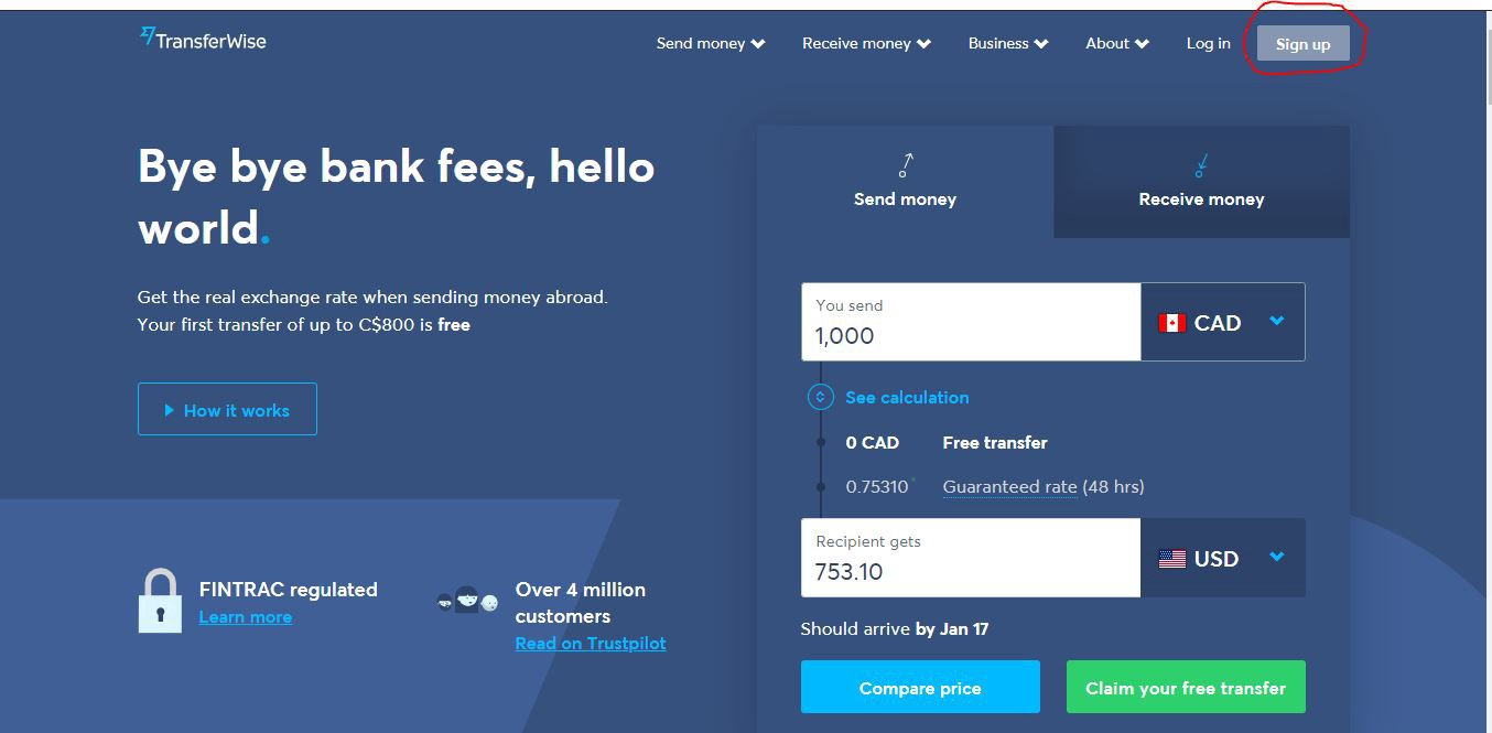 You Get 800 Free Worth Of International Transfer Can Sign Up And Visit Their Site With The Link They Sent Me Https Transferwise U Bg27
