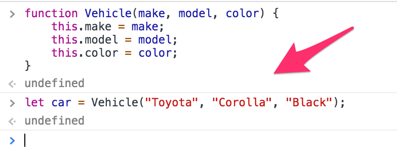 But In Constructor Functions We Could Actually Do This