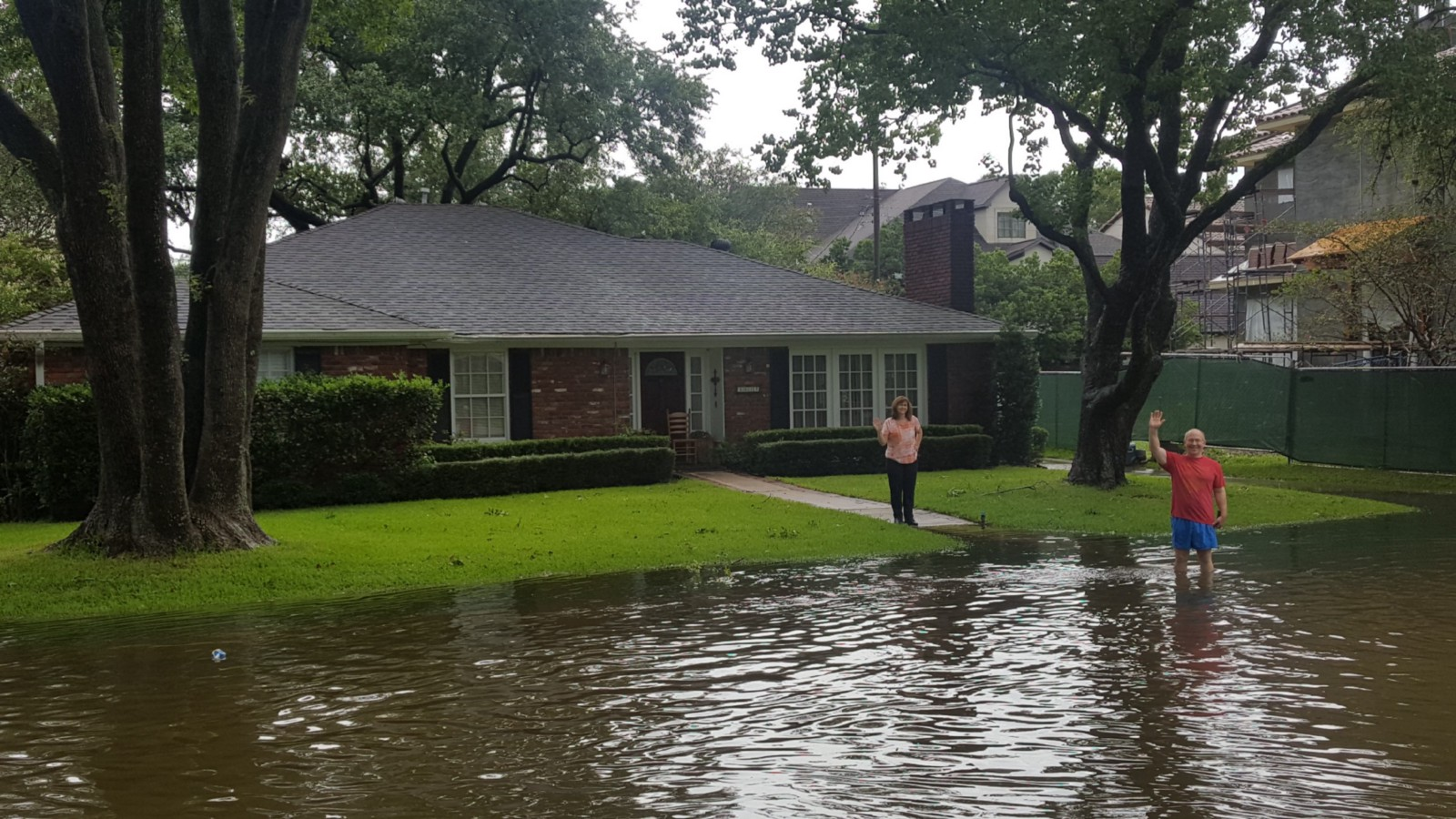 Sean's parents at their family home in Houston post-Harvey.