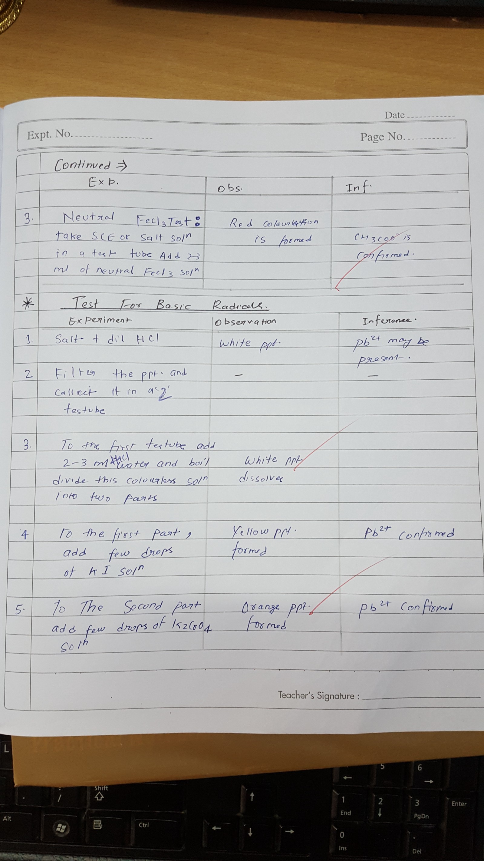 Chemistry Practical Lab Manual For Class 12 t