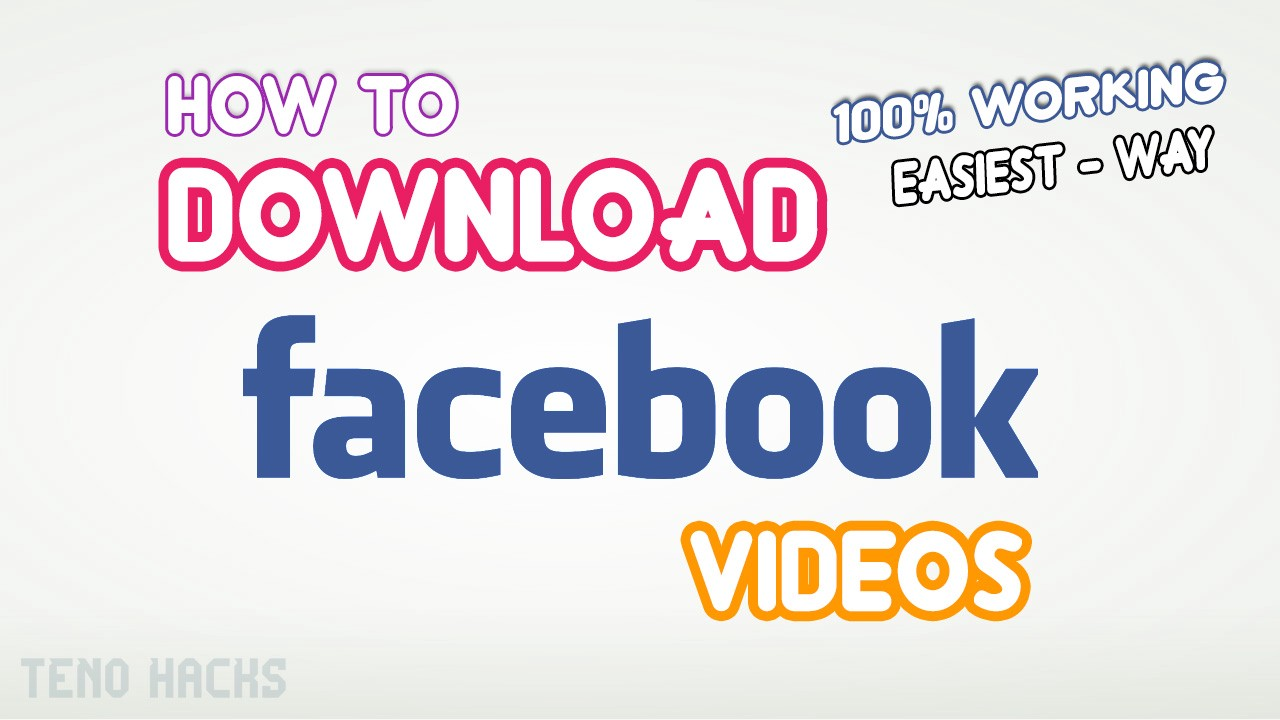 download any video on facebook