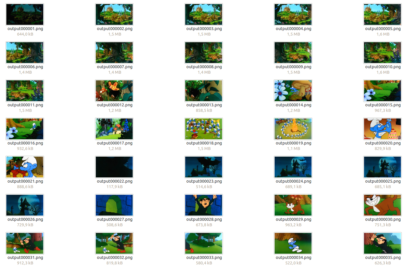 Extract frames as an image from video files using FFMPEG