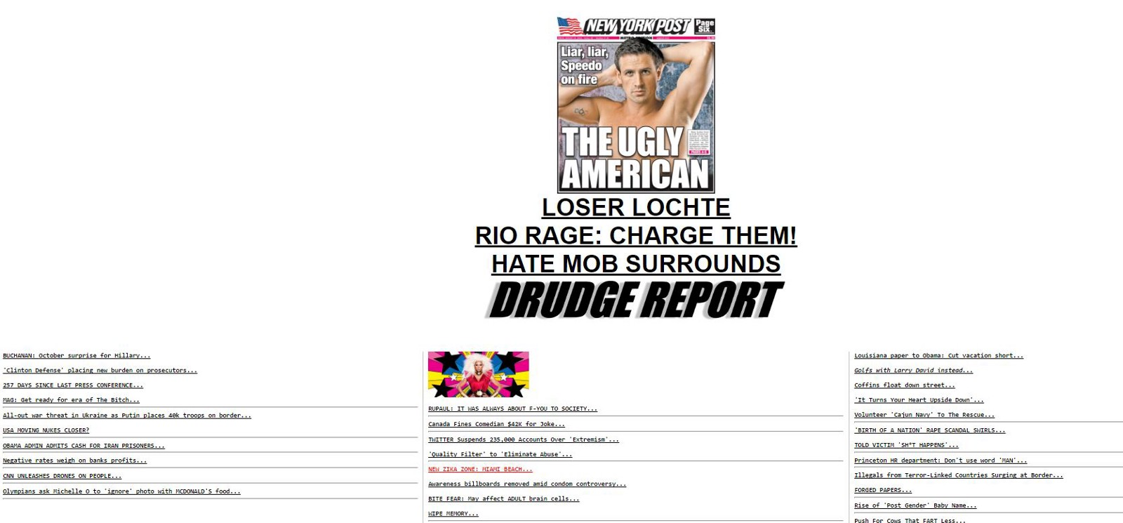 The Us Cant Get Over How Big Drudge Is But Its Nothing Compared To