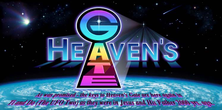 518f40e82d8b59 Heaven s Gate web logo mixed Christian-style promise with extraterrestrial  iconography. (heavensgate.com)