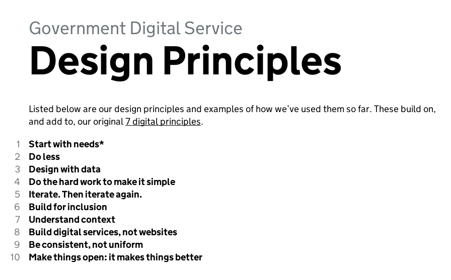 ... Digital Principles And Principles For The Information Architecture. We  Ended Up With Eight Digital Principles, Which Guide Both The Approach To  Design: