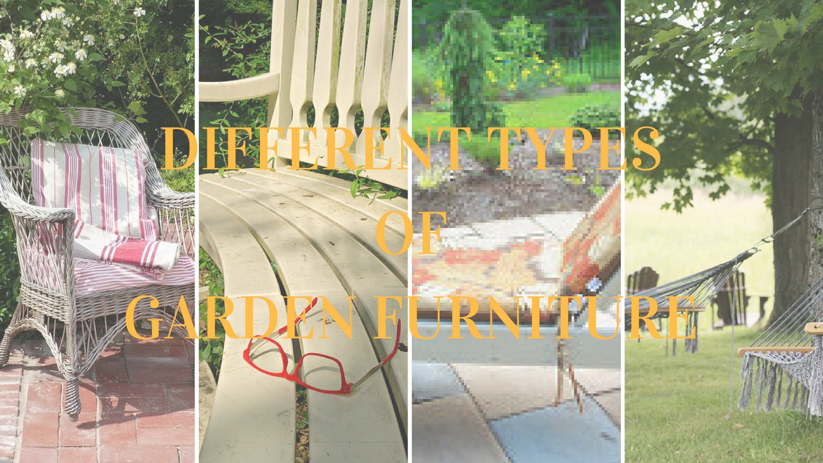 Types of furniture for the garden - choose the appropriate 38