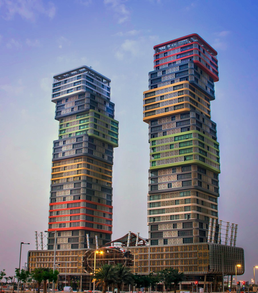 Some funky looking buildings are coming up in qatar s for House structures pictures
