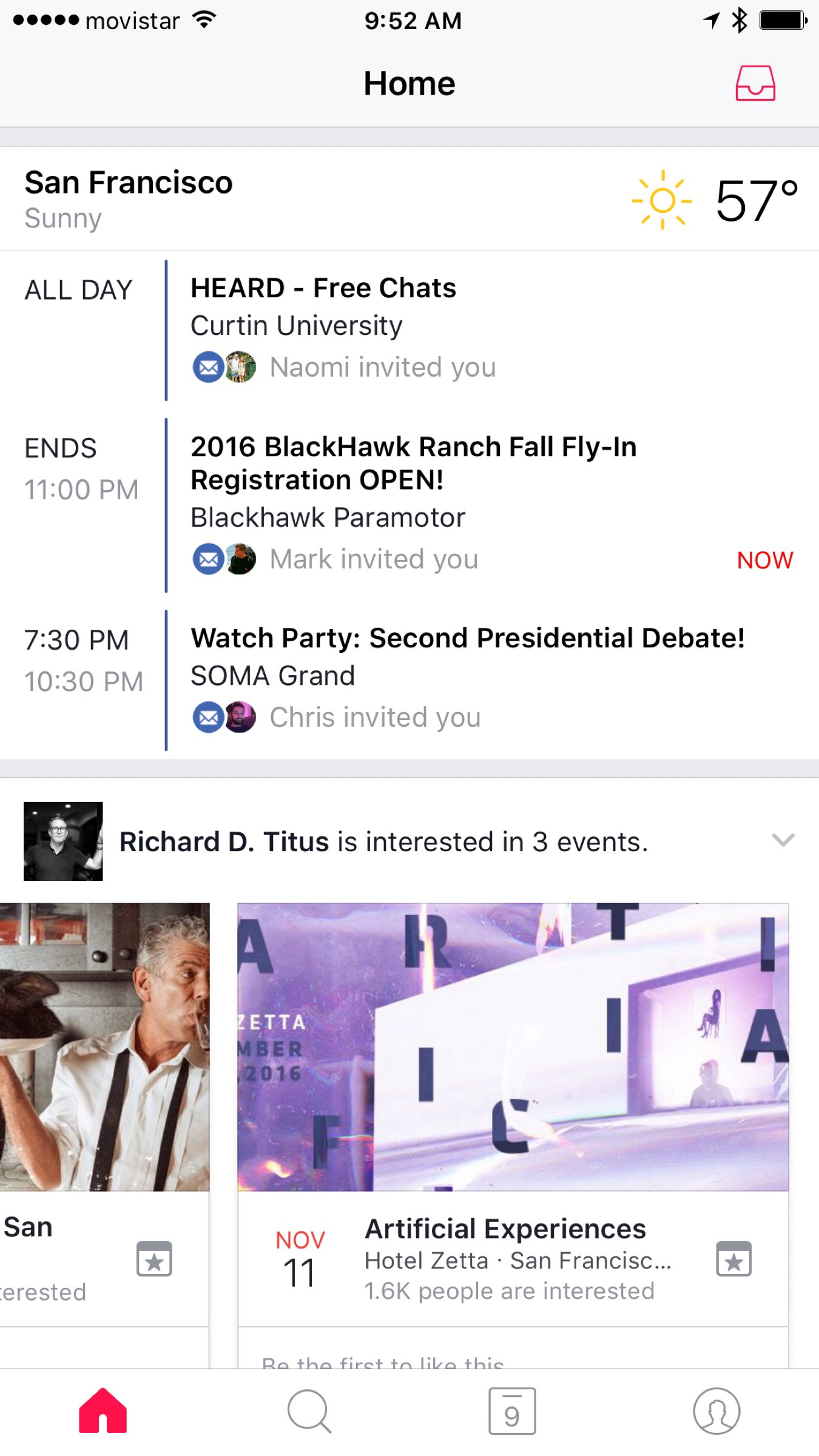Facebook launches an events app. Compete with Eventbrite soon?