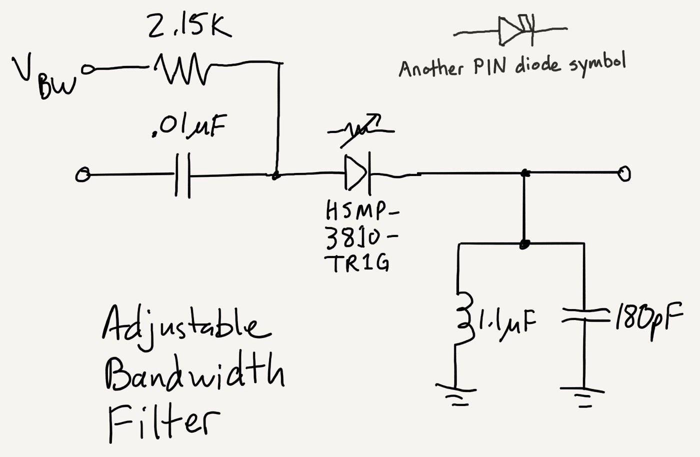 Hello Diodes Tempo Automation Medium Pin On Dc Power Source Schematic Symbol A Variable Resistor Can Be Used To Create Bandwidth Filter The Resistance Is Set By Current In Diode