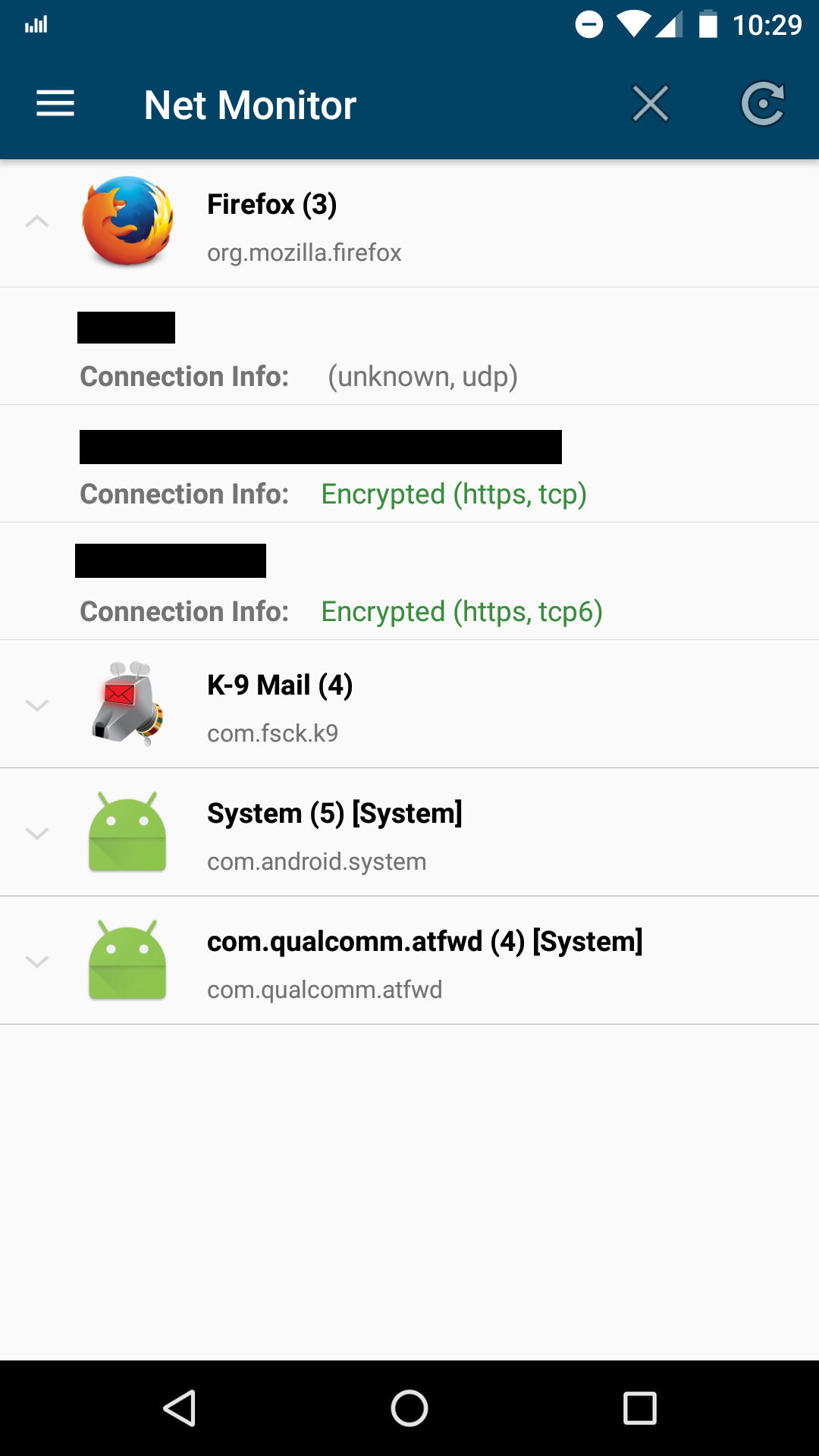 Android gives apps full access to your network activity.