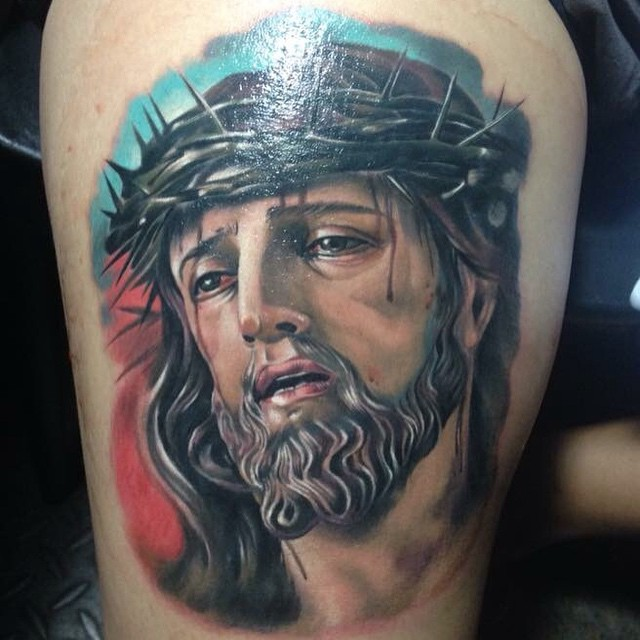 Jesus Christ tattoo – Andrew agelessarttattoos – Medium