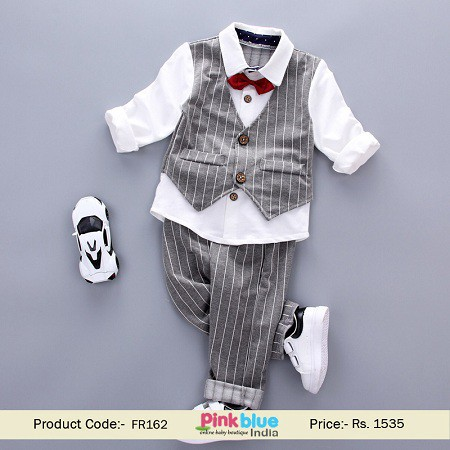 This Handsome Boy Second Birthday Party Dress For Your Little Guy Would Look Dapper In Adorbs Vintage Inspired Outfit