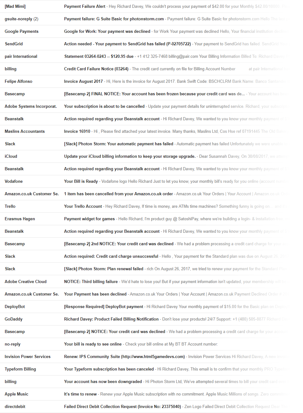 Hsbc is killing my business piece by piece how to plan for your like a stress fracture that grows bigger over time here is a small section of my inbox to give you an idea of the scale of the problem after a few weeks altavistaventures Images